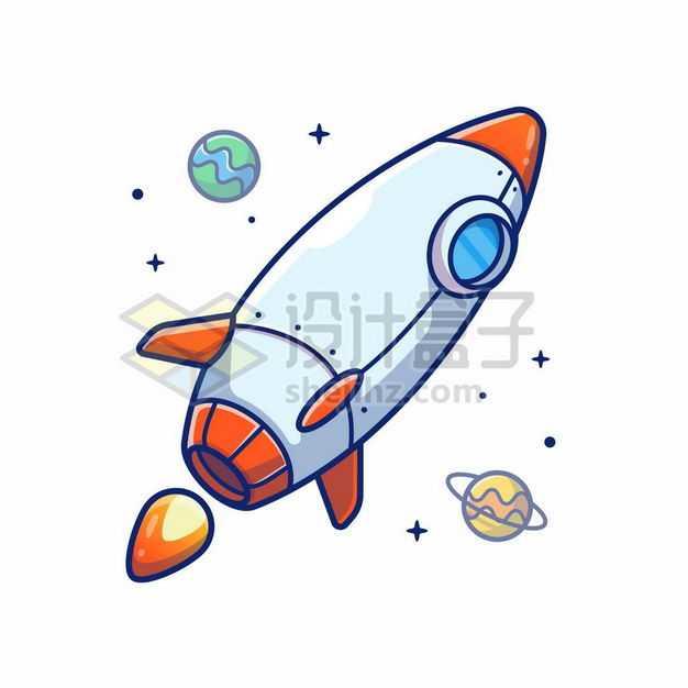 MBE风格卡通小火箭5834294png图片免抠素材