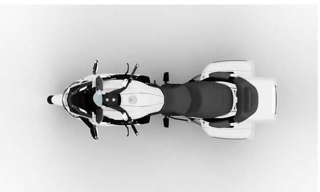 3D立体白色重机车公路摩托车运动摩托车俯视视角4582298png图片免抠素材