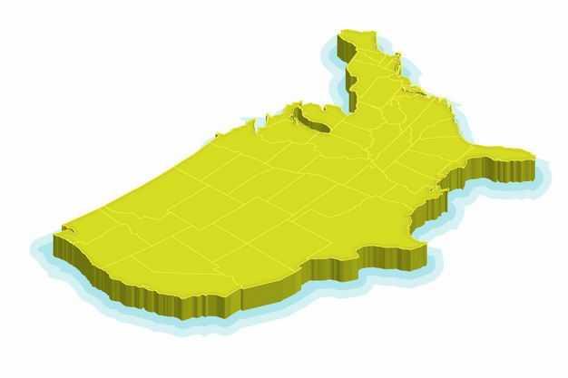 绿色3D立体美国本土地图2811881png图片免抠素材