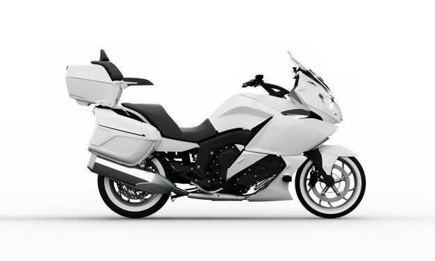 3D立体白色重机车公路摩托车运动摩托车右侧视角1083165png图片免抠素材
