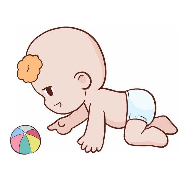 在地上爬行的卡通宝宝2102351png图片免抠素材