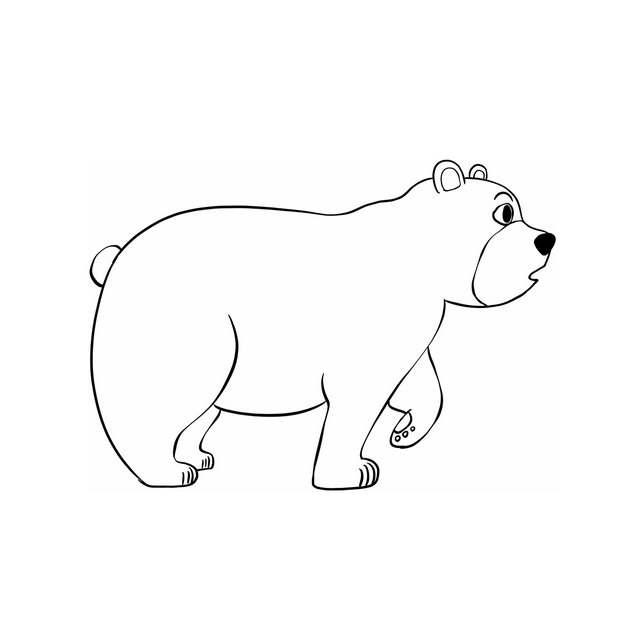 手绘线条风格短面熊7927789png图片免抠素材