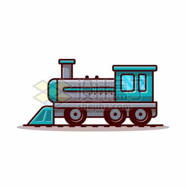MBE风格卡通火车头蒸汽机车2161725png图片免抠素材