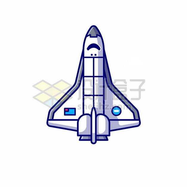 MBE风格白色卡通航天飞机4500392png图片免抠素材