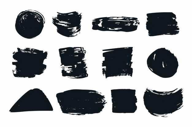 各种黑色的涂鸦线条装饰2947654png图片免抠素材