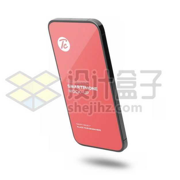 3D立体黑色苹果iphone手机样机2000574图片免抠素材