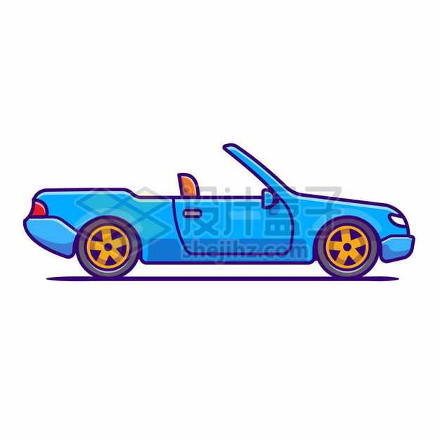 MBE风格蓝色卡通敞篷汽车跑车2290478png图片免抠素材