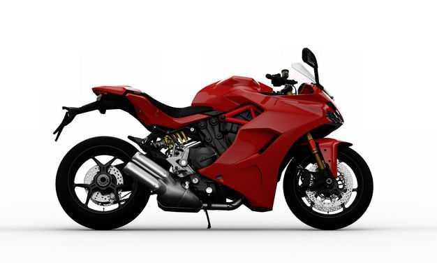 支撑起来的红色运动摩托车右侧方视角2941254PSD图片素材