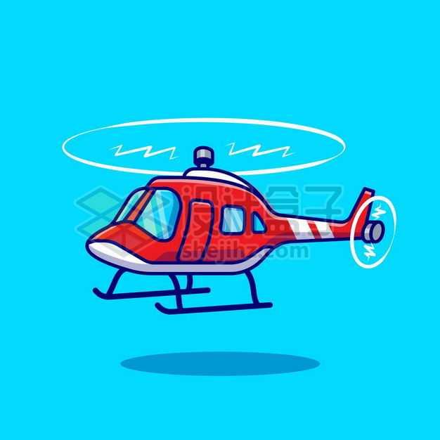 MBE风格红白色卡通直升机1872878png图片免抠素材