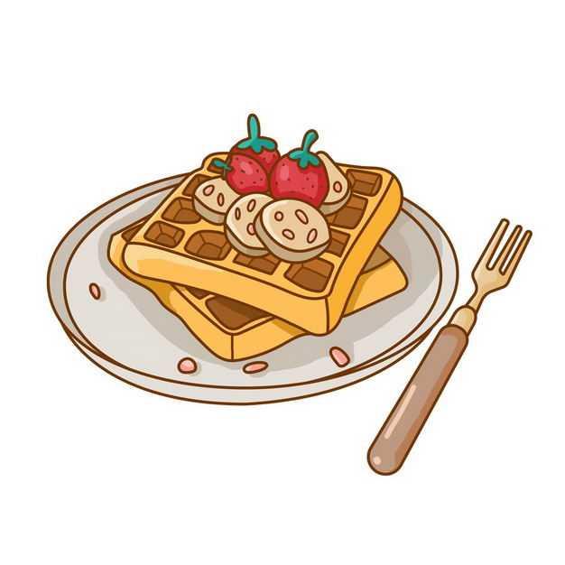 卡通华夫饼美味美食早餐2654774png图片免抠素材