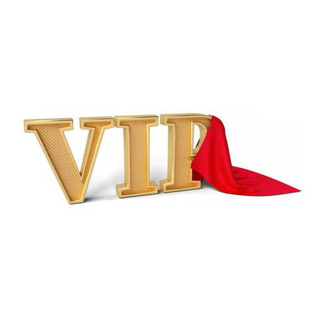3D立体VIP艺术字体和红色幕布4077431png图片免抠素材