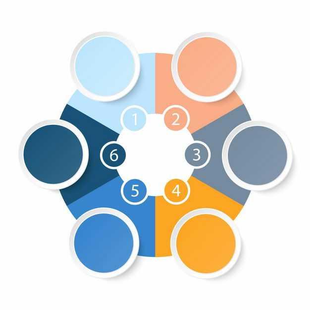 六边形环形PPT信息图表4635701EPS图片免抠素材