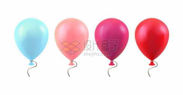 蓝色粉色玫红色和红色气球8668988png图片免抠素材