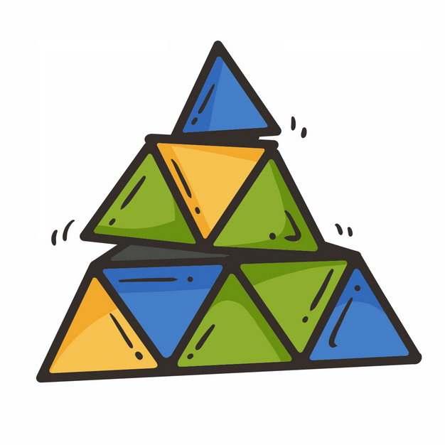 彩色卡通三角魔方玩具8632260png图片免抠素材