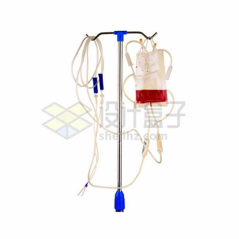 落地式输液架和输液袋输血袋挂水针头8698823png图片免抠素材