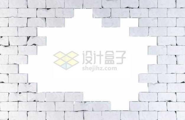 打破的灰色砖墙6605071图片免抠素材