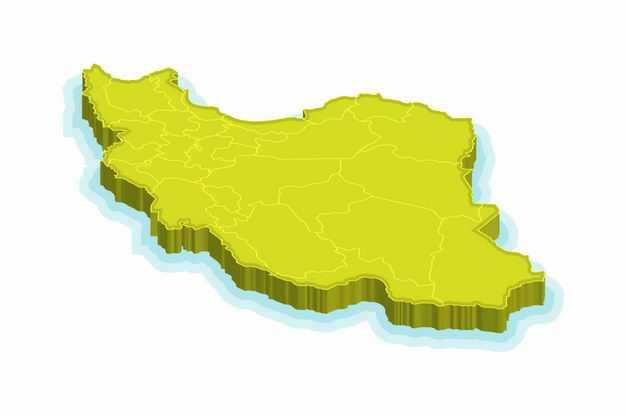 绿色3D立体伊朗地图8394014png图片免抠素材