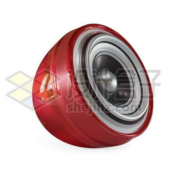 可爱的球形红色3D立体扬声器小喇叭音乐播放音箱3387629图片免抠素材
