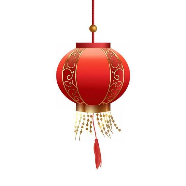 圆形中国风大红灯笼装饰920439PSD图片免抠素材