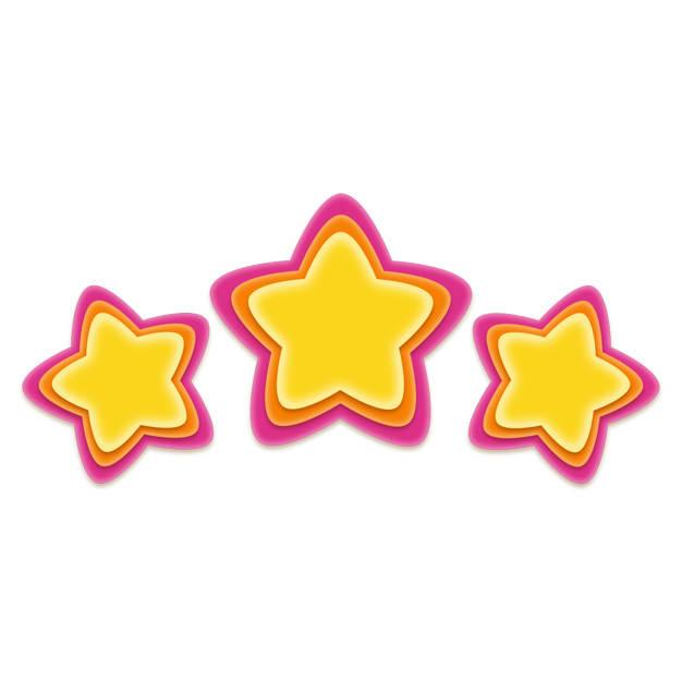 卡通彩色五角星三星好评8632552png图片免抠素材