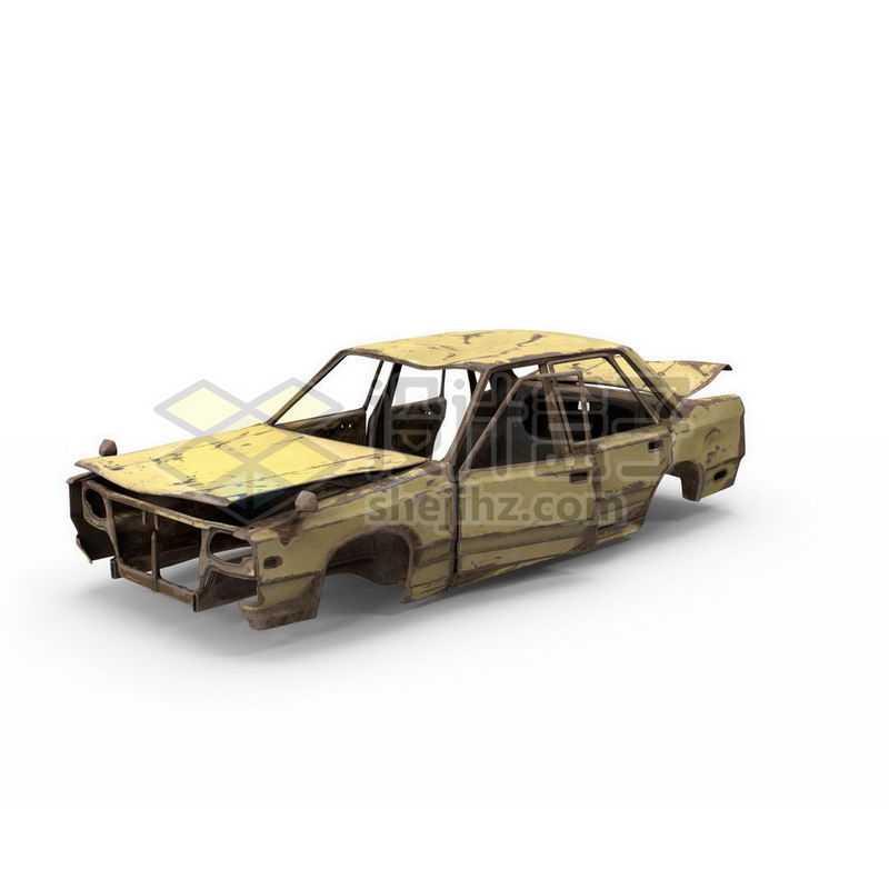 破旧废弃的汽车残骸8384174图片免抠素材