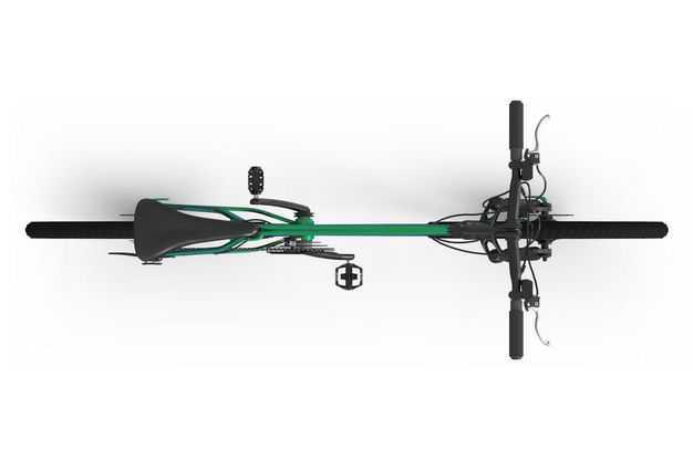 3D立体运动自行车山地自行车公路自行车俯视视角5092127png图片免抠素材
