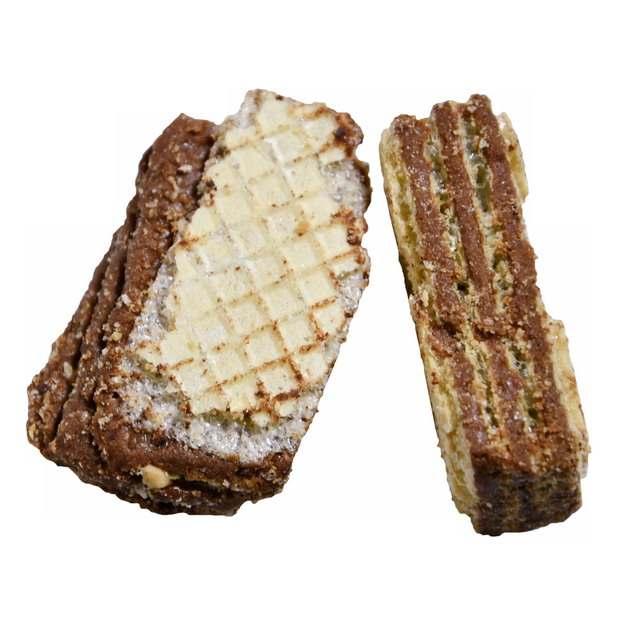 两块美味的威化巧克力饼干美味零食7068316png图片免抠素材