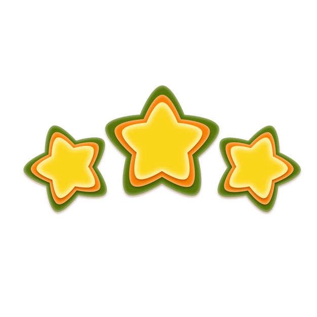 卡通彩色五角星三星好评8270232png图片免抠素材