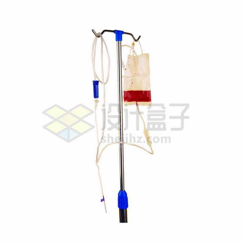 落地式输液架和输液袋输血袋挂水针头9284642png图片免抠素材