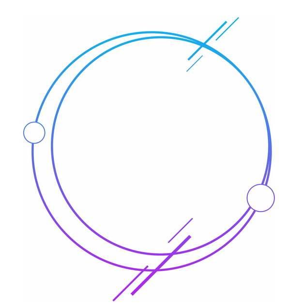 蓝色紫色渐变色圆环线条装饰859839PSD图片免抠素材