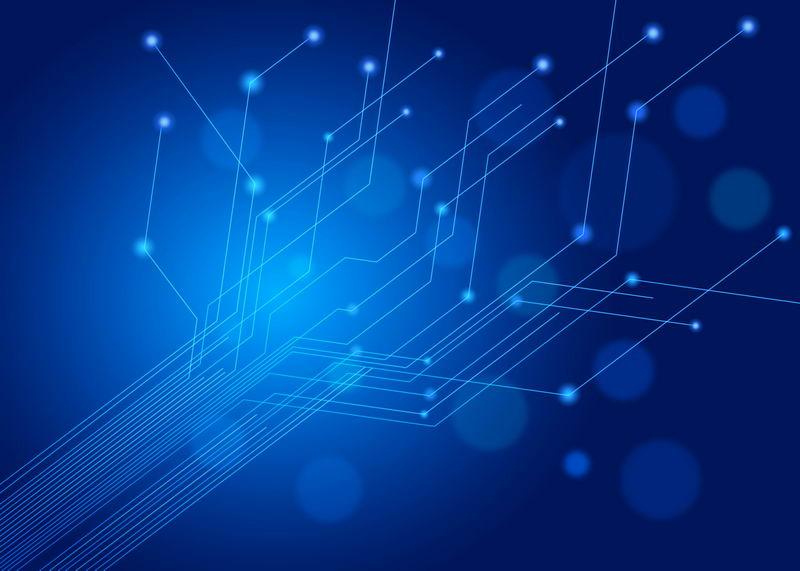 蓝色电路线条科技风格背景图7209021图片素材 背景-第1张