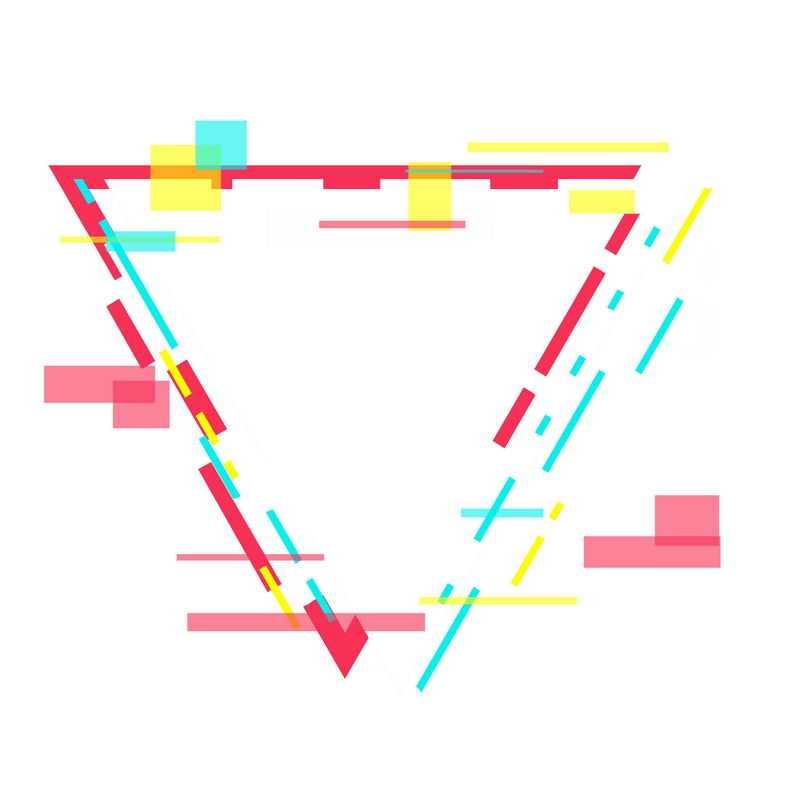 故障风格三角形装饰图案3969305PSD图片免抠素材