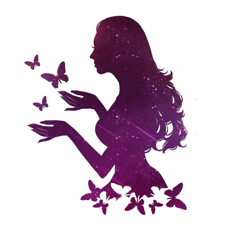抽象蝴蝶美女剪影8179497图片免抠素材 人物素材-第1张