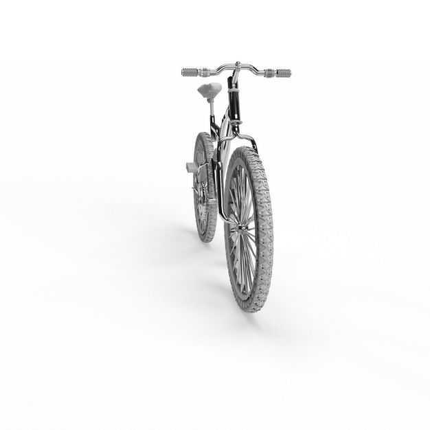 一辆不锈钢运动自行车双碟刹山地车正面图8988481免抠图片素材