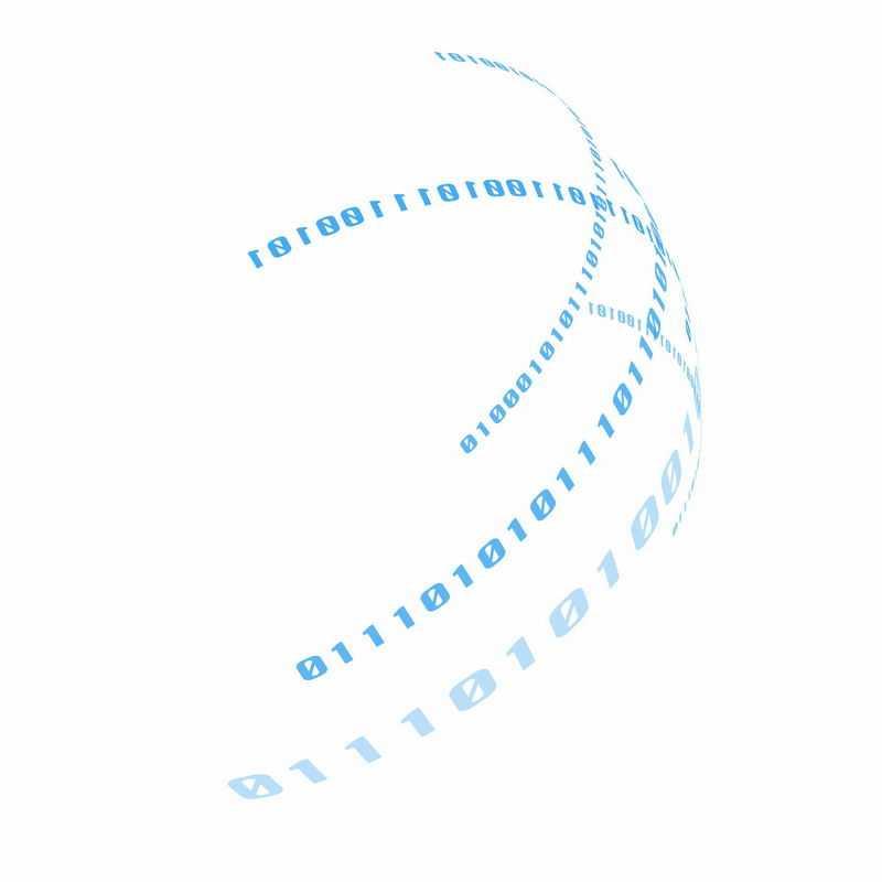 蓝色数字01组成的科技科幻风格圆环装饰4189115ai矢量图片免抠素材
