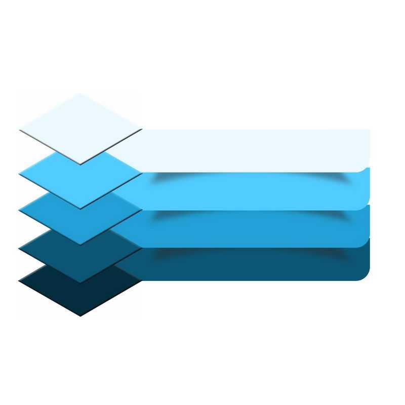 蓝色渐变色风格序号信息文本框PPT信息图表6667993图片免抠素材