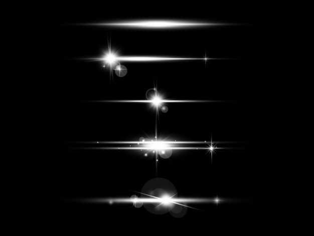 五款白色光芒光线星光效果1868081免抠图片素材
