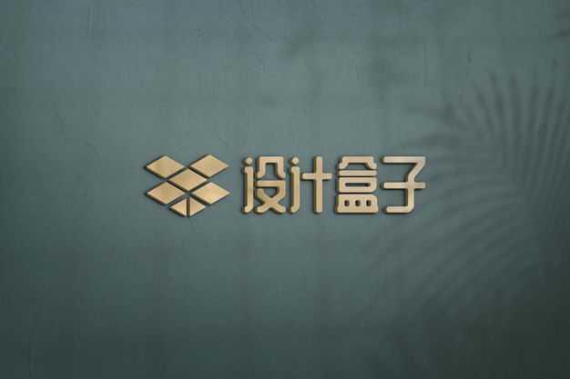 墙壁上的3D立体金色字体logo显示样机4766107图片素材