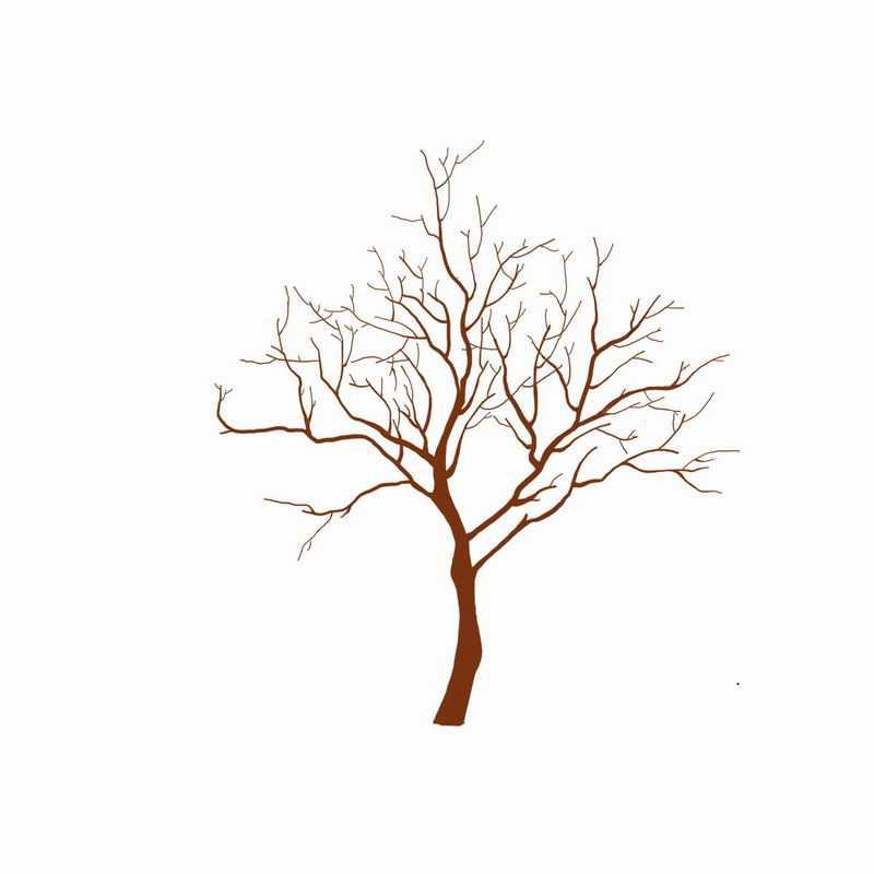 手绘风格干枯的大树8401965png图片免抠素材
