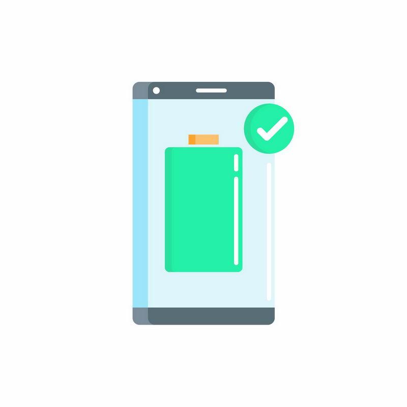 MBE风格手机电池充满电提示图标8064316图片免抠素材 UI-第1张