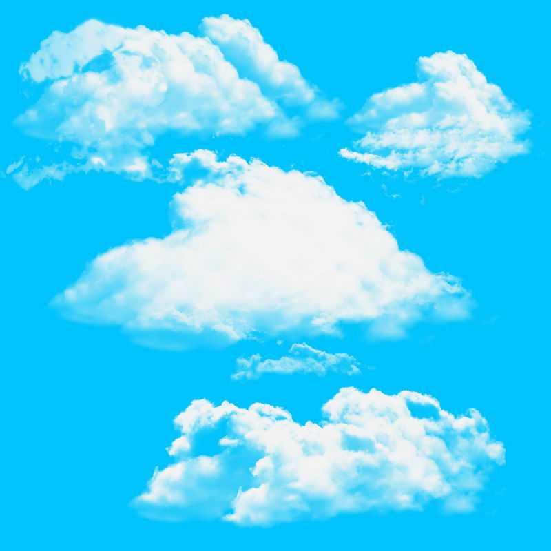 4款白云漂浮的云朵5972066图片免抠素材