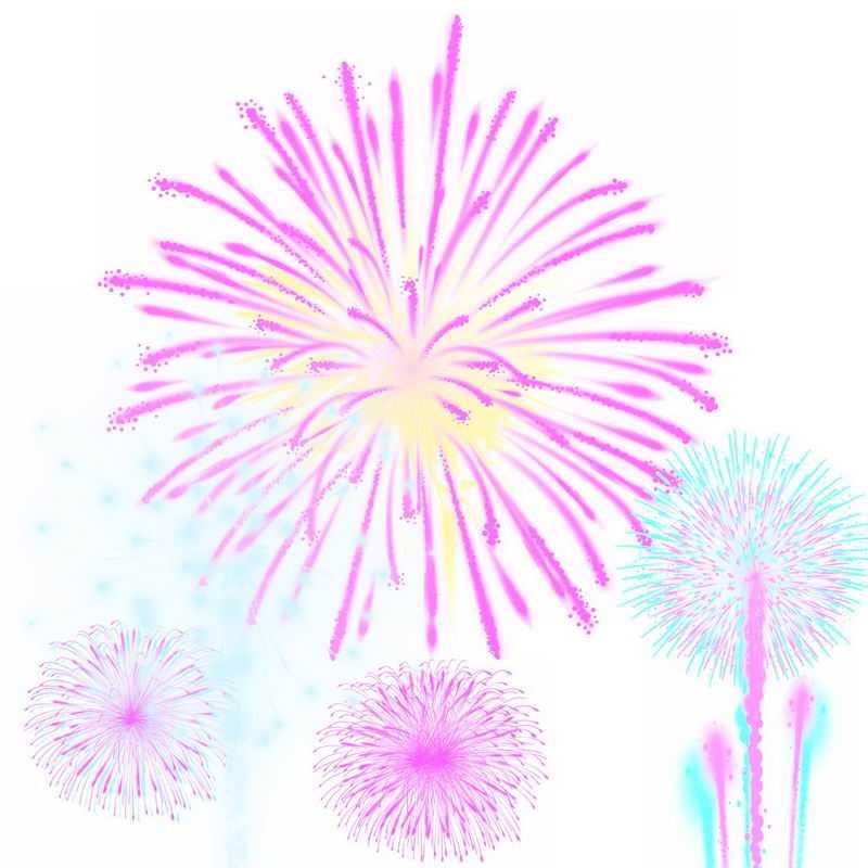 各种彩色的发光烟花礼花效果图案9358558图片免抠素材