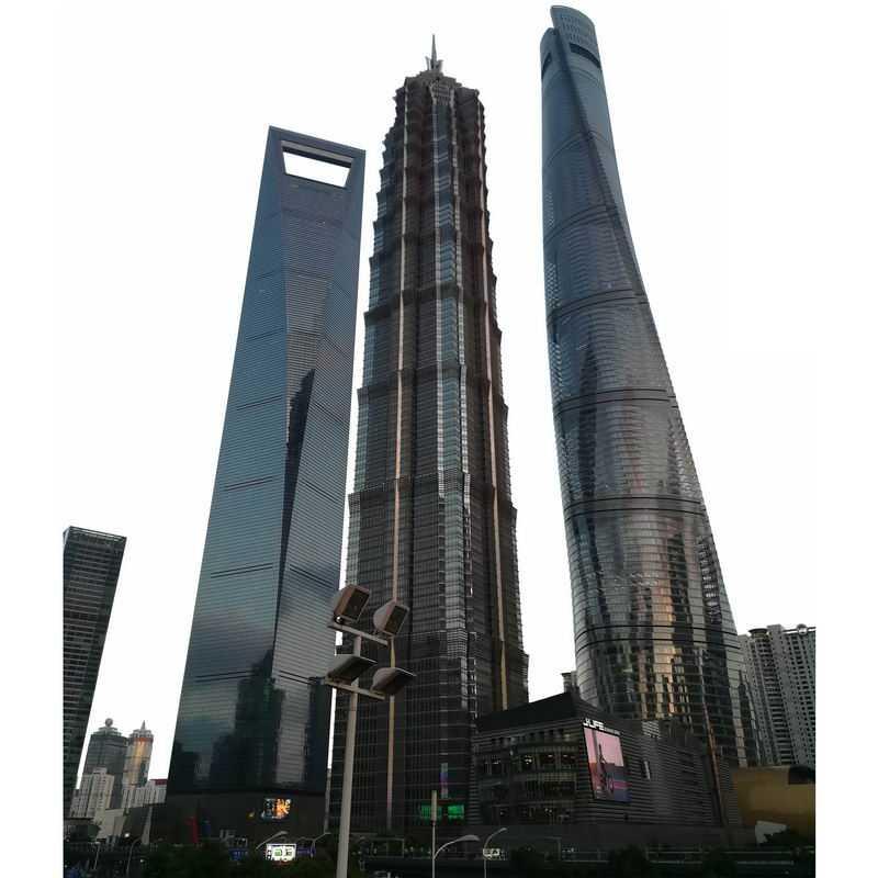 上海环球金融中心金茂大厦上海中心大厦陆家嘴建筑群城市建筑9978110png图片免抠素材