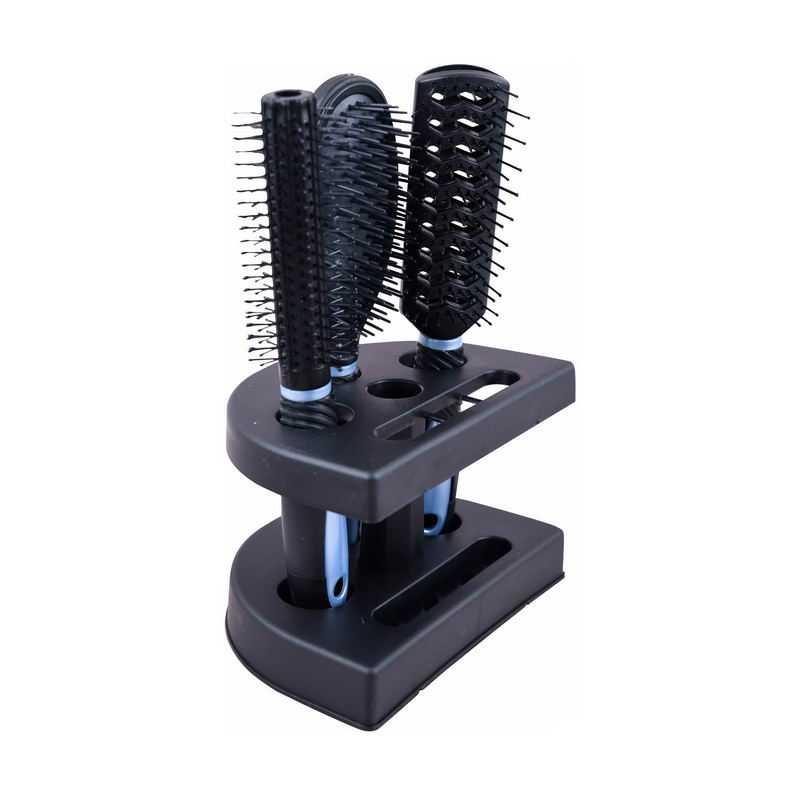 架子上的气垫梳子按摩梳子卷发梳子2438677png图片免抠素材