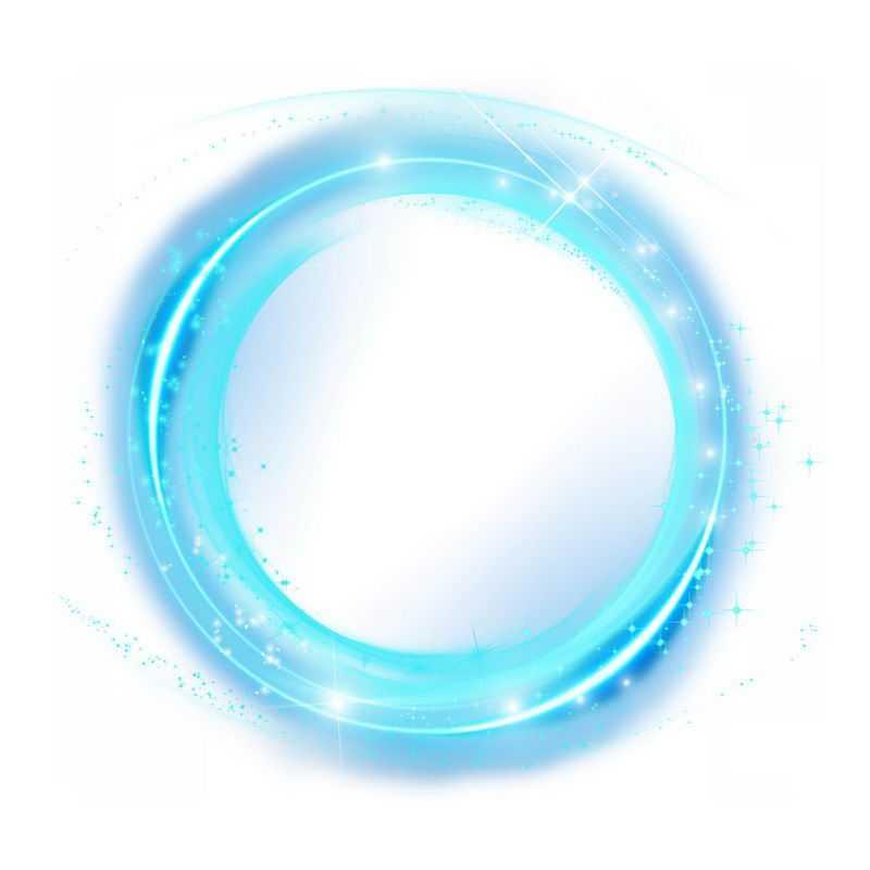 蓝色螺旋发光光芒效果2000644png图片免抠素材