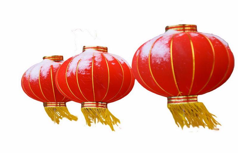 三个大红灯笼新年春节装饰4143543png图片免抠素材 节日素材-第1张