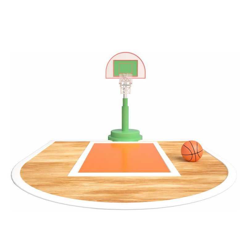 逼真的篮球场和篮球架篮球框7578817图片免抠素材