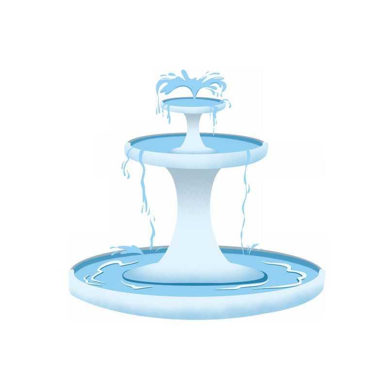 圆形喷泉园林建筑7022743图片免抠素材