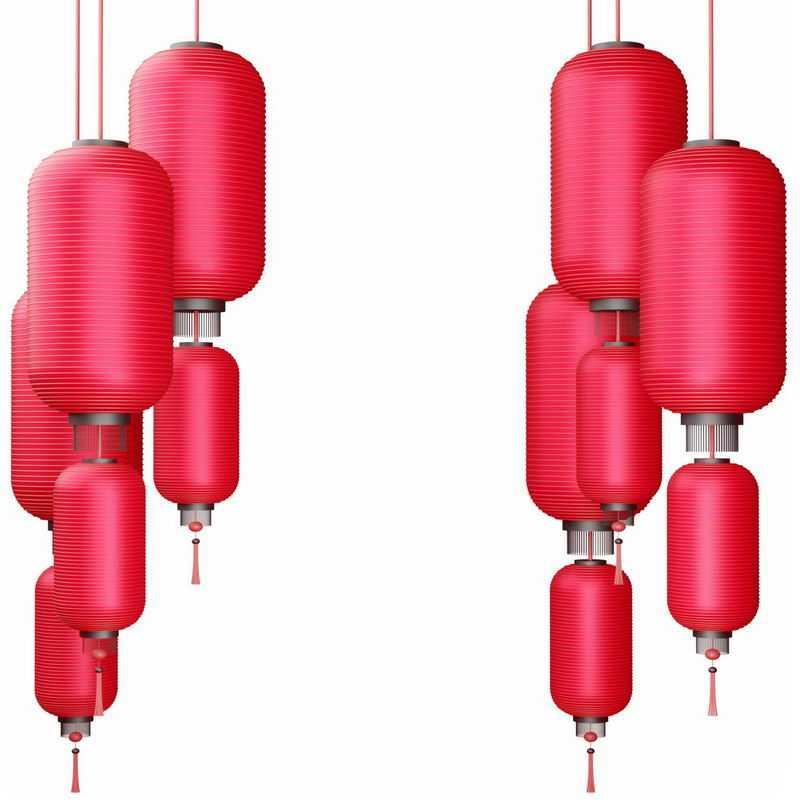 挂着的红灯笼新年春节过年装饰2772963图片免抠素材