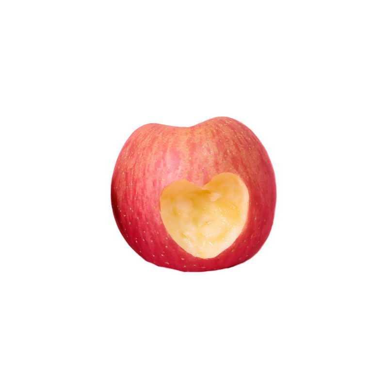 一颗红苹果上的心形咬痕7864091png图片免抠素材